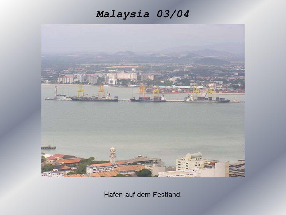 Hafen auf dem Festland.
