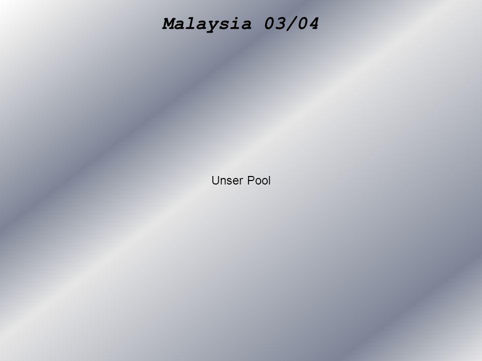 Malaysia 03/04 Unser Pool