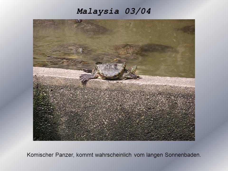 Malaysia 03/04 Komischer Panzer, kommt wahrscheinlich vom langen Sonnenbaden.