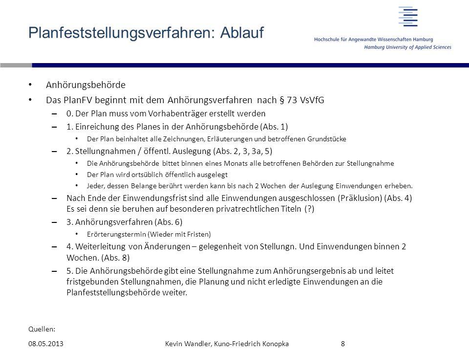 Quellen: Planfeststellungsverfahren: Ablauf Anhörungsbehörde Das PlanFV beginnt mit dem Anhörungsverfahren nach § 73 VsVfG – 0. Der Plan muss vom Vorh