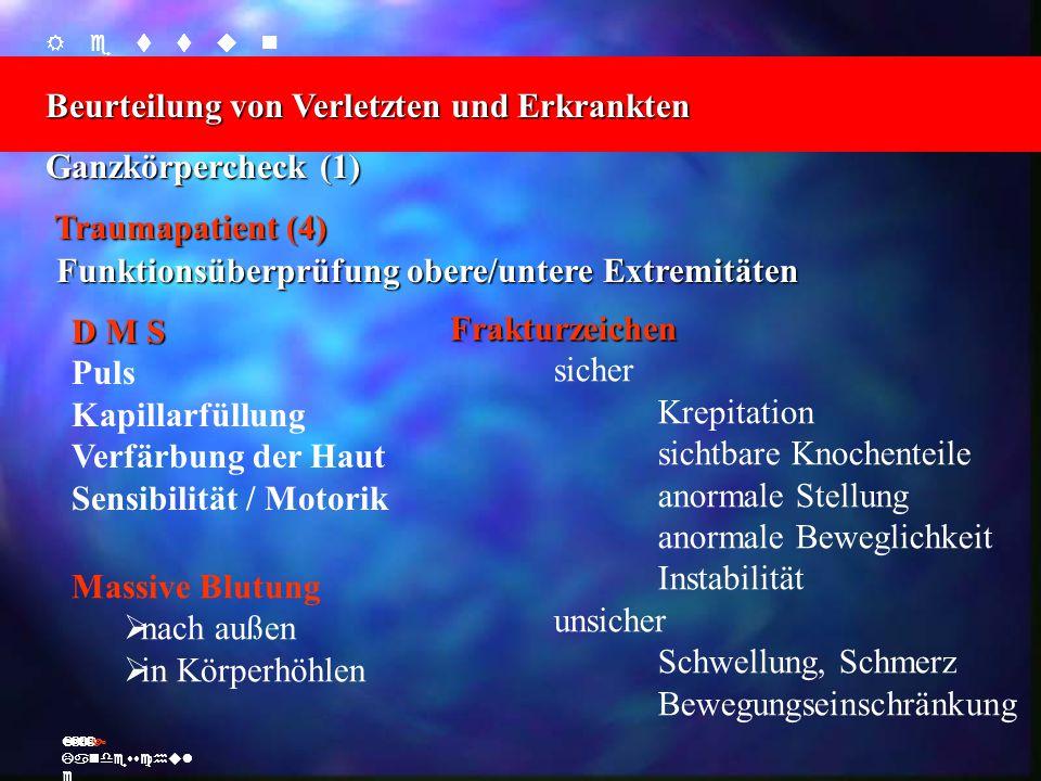    Beurteilung von Verletzten und Erkrankten Ž Landesschul e    Beurteilung von Verletzten und E