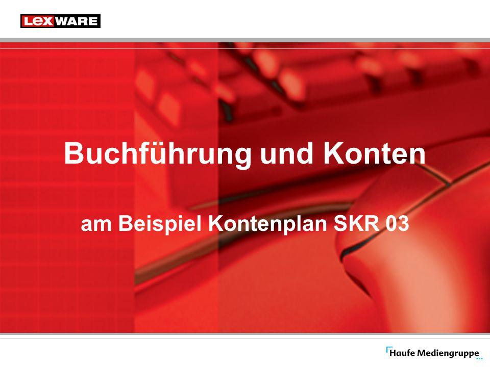 Buchführung und Konten am Beispiel Kontenplan SKR 03