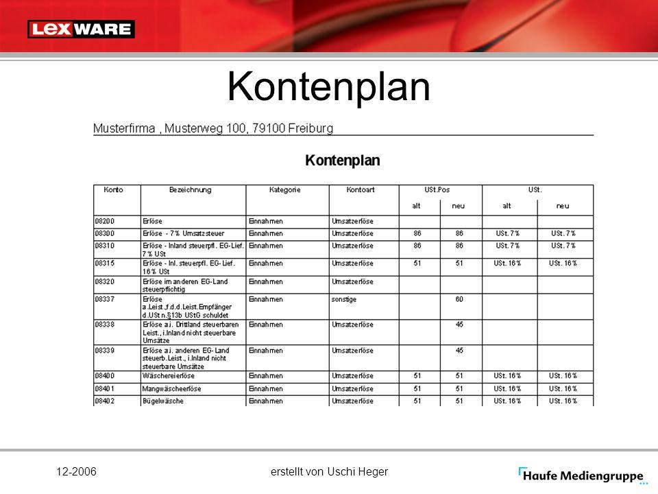 12-2006erstellt von Uschi Heger Kontenplan