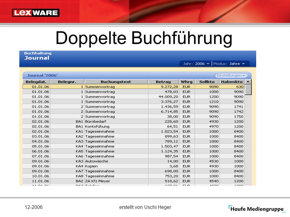 12-2006erstellt von Uschi Heger Doppelte Buchführung