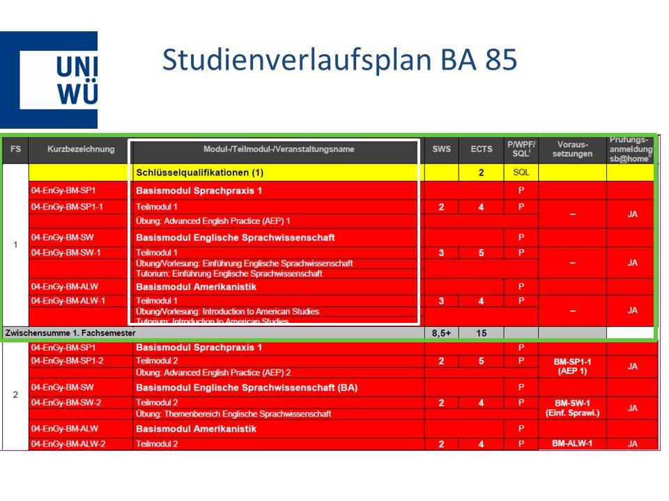 Studienverlaufsplan BA 85