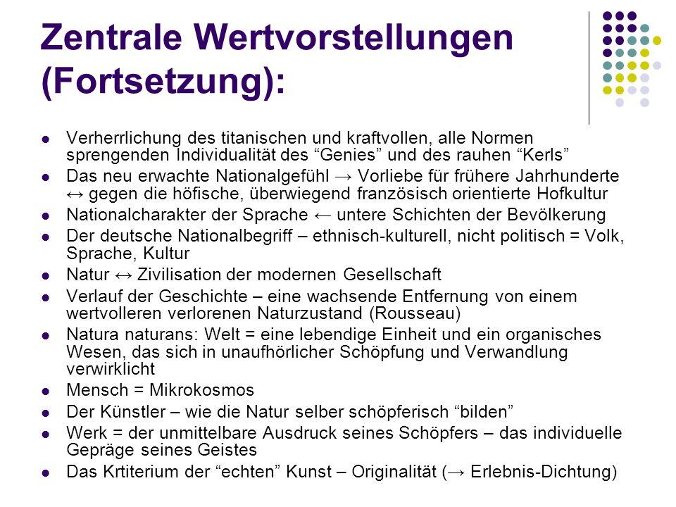 Götz von Berlichingen (1773) Rechtsanwalt in Frankfurt Götz von Berlichingen (1773) → Ruhm Das Nationale, das Volkstümliche, der Geist und die Sprache des 16.