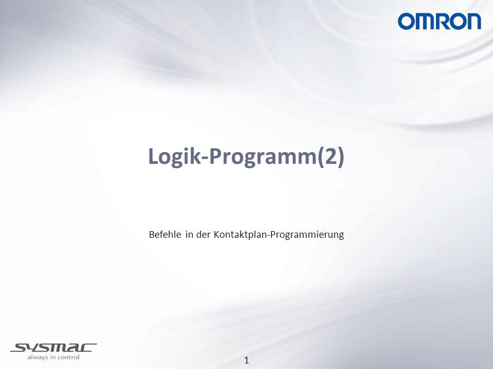 2 Logik-Programm(2)-Befehle Übersicht: Bit-Befehle Zeitgeber Zähler Vergleiche Daten kopieren Inkrementieren / Dekrementieren Arithmetische Befehle Datentyp umwandeln
