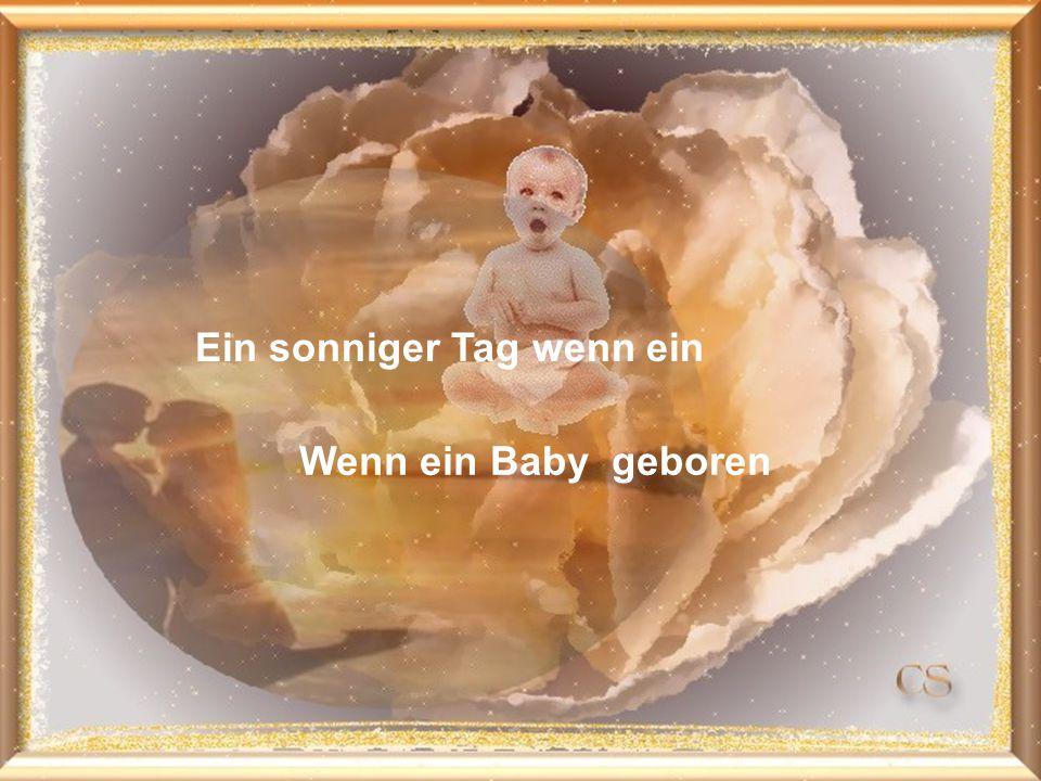 Ein sonniger Tag wenn ein Wenn ein Baby geboren