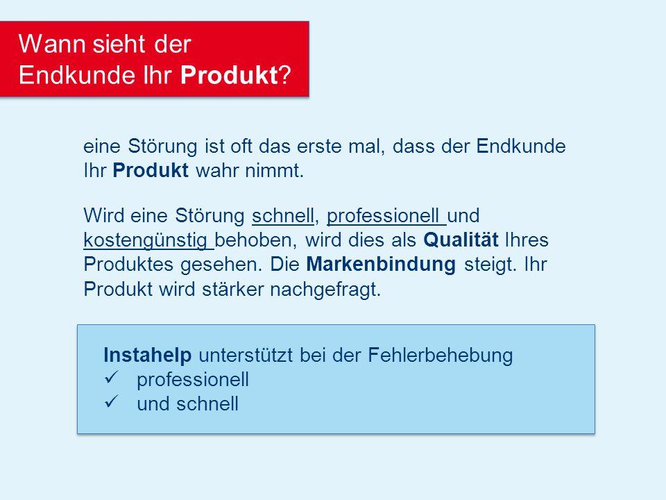 Instahelp kennt Ihre Fehlercodes, unterstützt die Bestellvorgänge und konkreten Handlungsanweisungen für den Fachmann vor Ort.