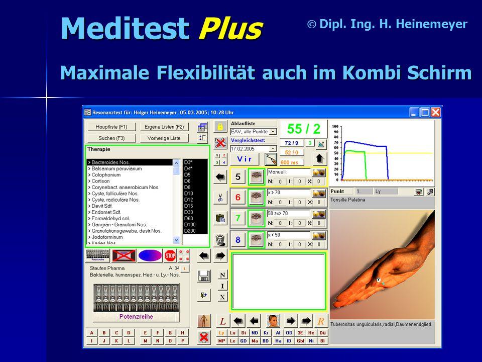 Meditest Plus  Dipl. Ing. H. Heinemeyer Maximale Flexibilität auch im Kombi Schirm