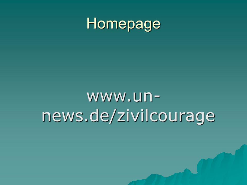 Homepage www.un- news.de/zivilcourage