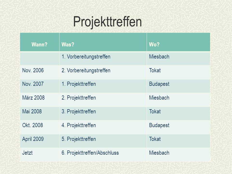 Projekttreffen Wann Was Wo. 1. VorbereitungstreffenMiesbach Nov.