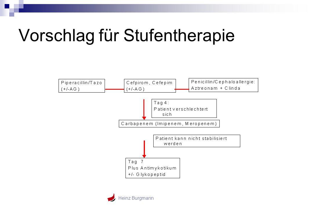 Heinz Burgmann Vorschlag für Stufentherapie