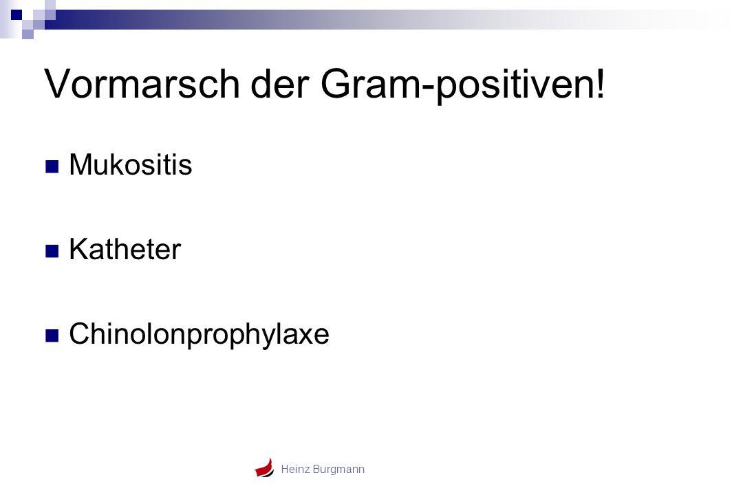 Heinz Burgmann Vormarsch der Gram-positiven! Mukositis Katheter Chinolonprophylaxe