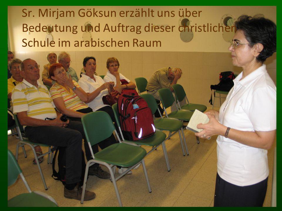 Sr. Mirjam Göksun erzählt uns über Bedeutung und Auftrag dieser christlichen Schule im arabischen Raum