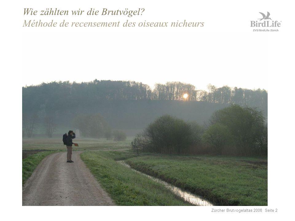 Zürcher Brutvogelaltas 2008 Seite 13 Grösste Verlierer seit 1988 Les grands perdants depuis 1988