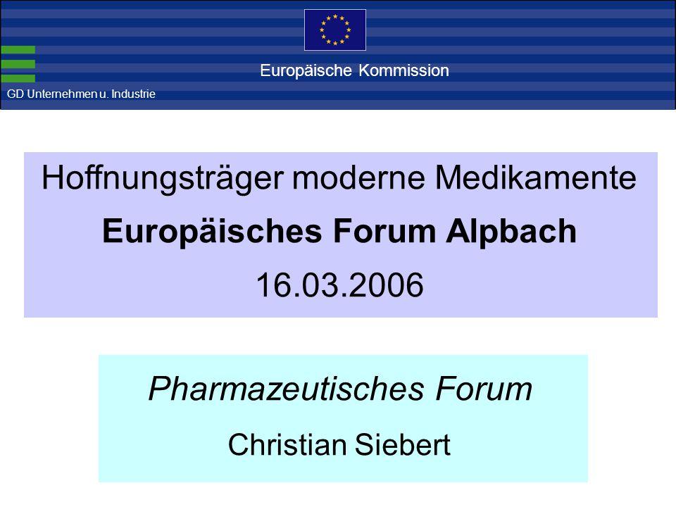 Der europäische Pharmasektor Ist die pharmazeutische Industrie stark.