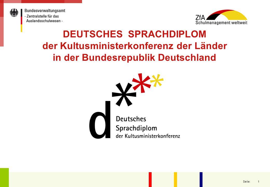 1 Seite: DEUTSCHES SPRACHDIPLOM der Kultusministerkonferenz der Länder in der Bundesrepublik Deutschland