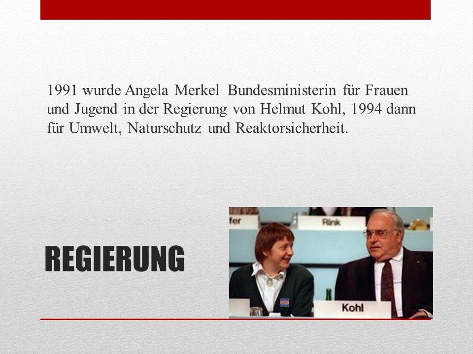 UN-KLIMAGIPFEL Ein prägendes Erlebnis war für Angela Merkel der UN- Klimagipfel mit Teilnehmern aus aller Welt, den sie 1995 in Berlin geleitet hat.