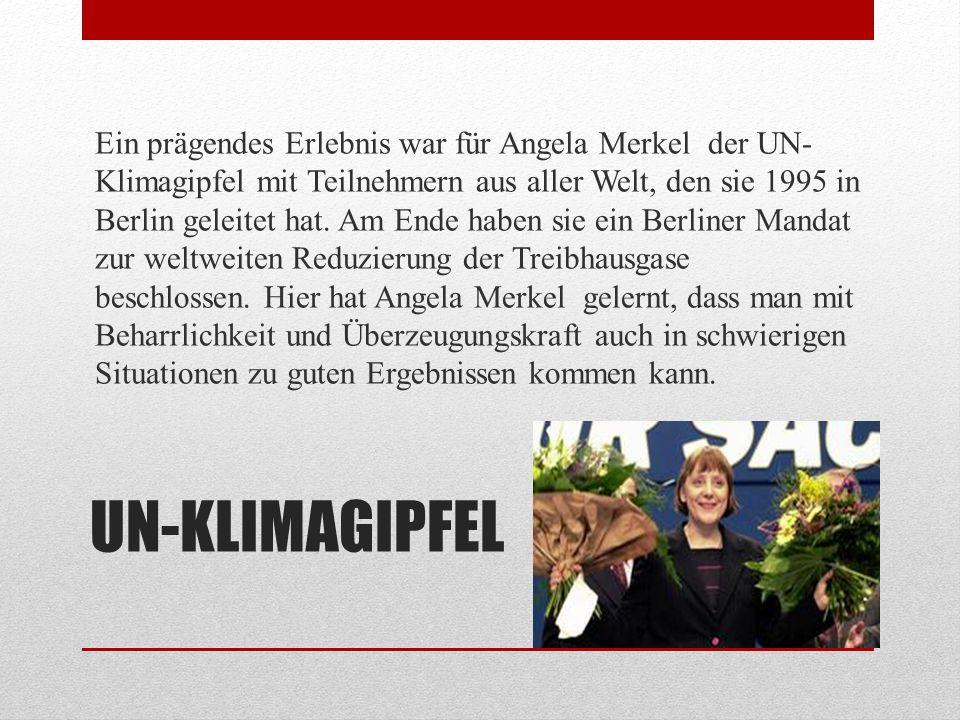 CHRISTLICH DEMOKRATISCHE UNION Von 1993 bis 2000 war Angela Merkel Landesvorsitzende der CDU in Mecklenburg-Vorpommern.
