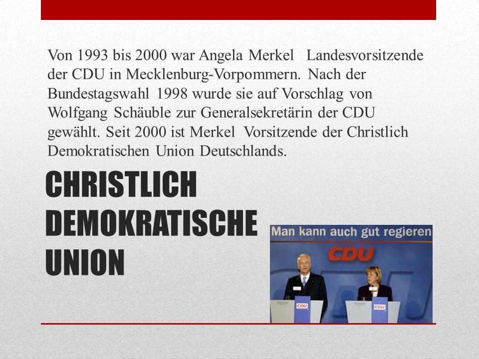 DIE WERTEN DER CDU CDU – das heißt für Angela Merkel, das zu bewahren, was ihnen stark macht, und in die heutige Gesellschaft zu übertragen.