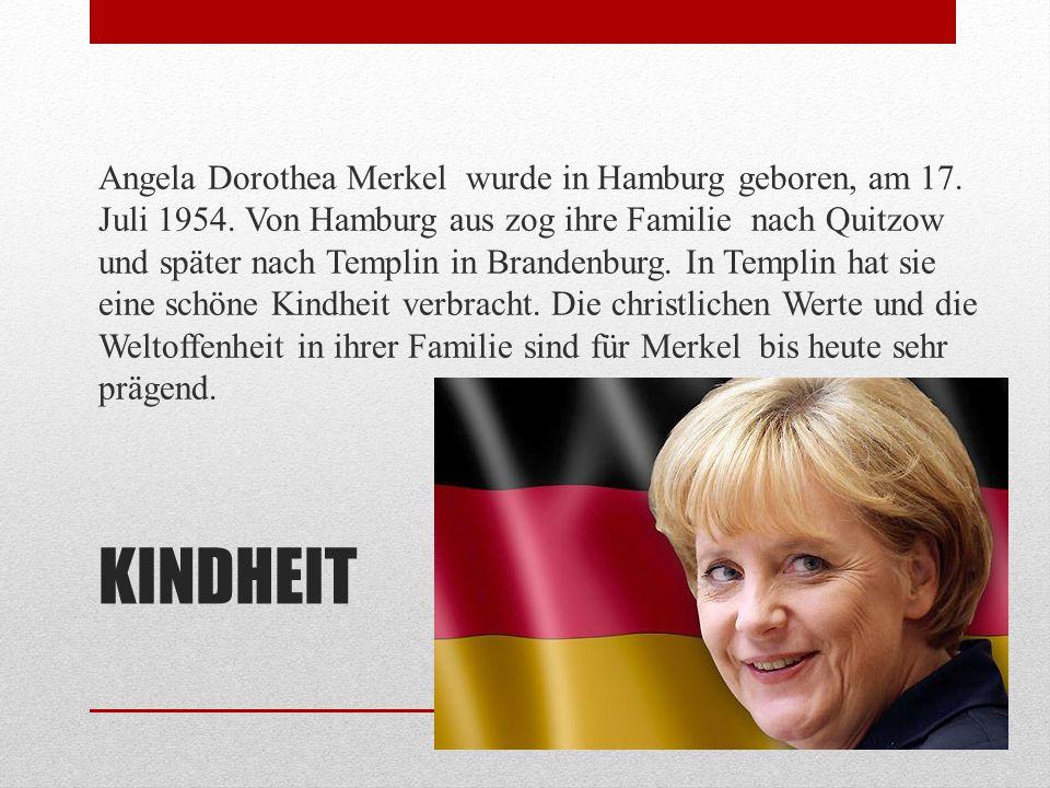 LERNEN Bis zur 8.Klasse besuchte Angela Merkel die Goethe-Schule in Templin.