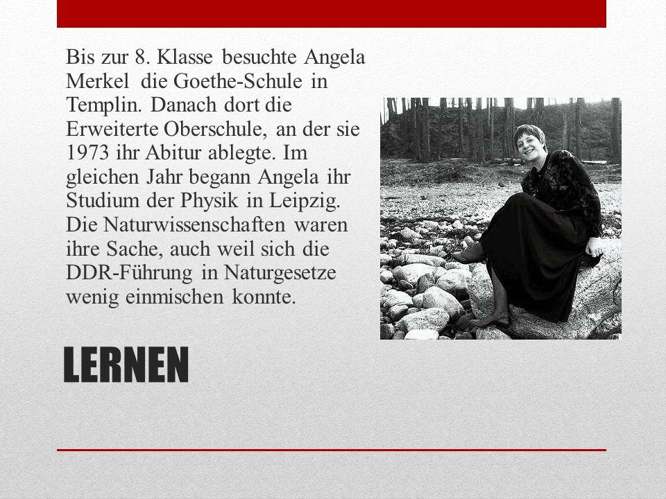 STUDENTENLEBEN Das Studentenleben war für Angela Merkel eine ganz neue Erfahrung.