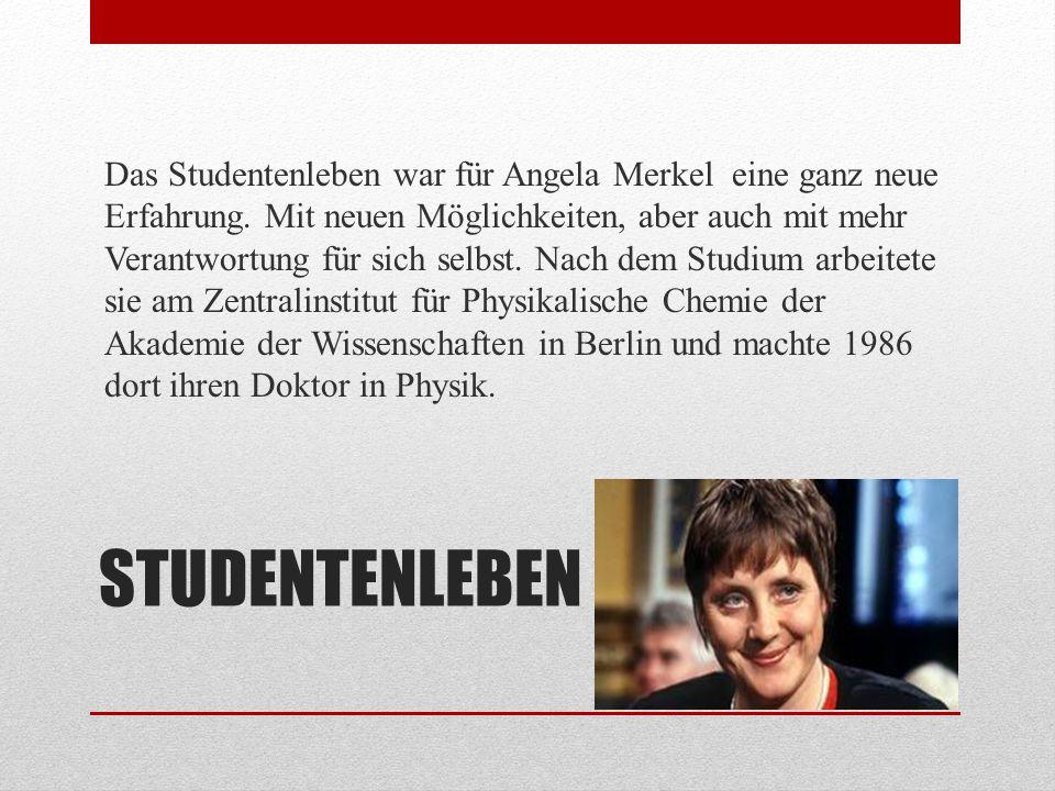 EHE In Berlin lernte Angela Merkel ihren Ehemann Joachim Sauer kennen....