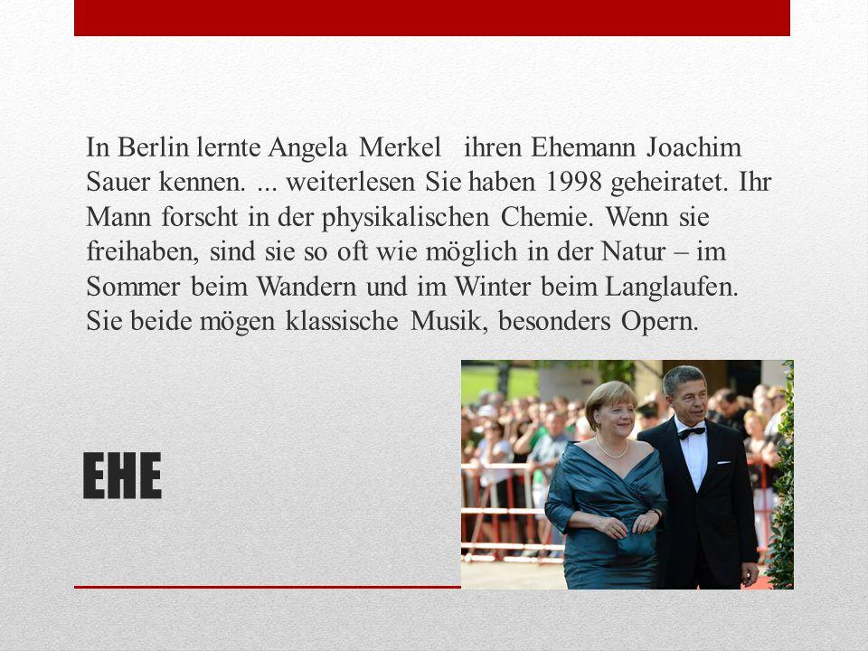 WIEDERVEREINIGUNG DEUTSCHLANDS Die Wiedervereinigung Deutschlands hat auch das Leben von Angela Merkel sehr verändert.