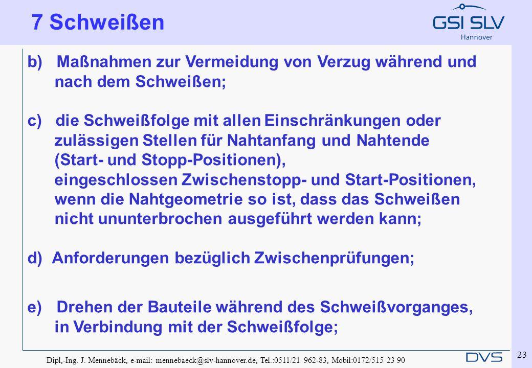 Dipl,-Ing. J. Mennebäck, e-mail: mennebaeck@slv-hannover.de, Tel.:0511/21 962-83, Mobil:0172/515 23 90 23 b) Maßnahmen zur Vermeidung von Verzug währe