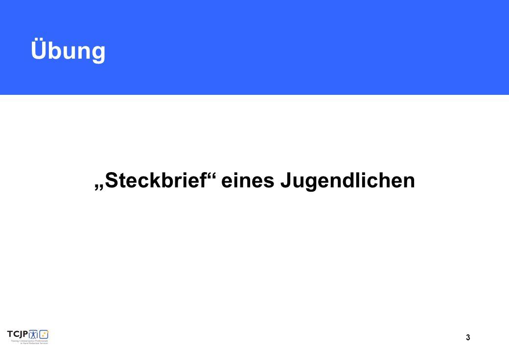 """3 Übung """"Steckbrief"""" eines Jugendlichen"""