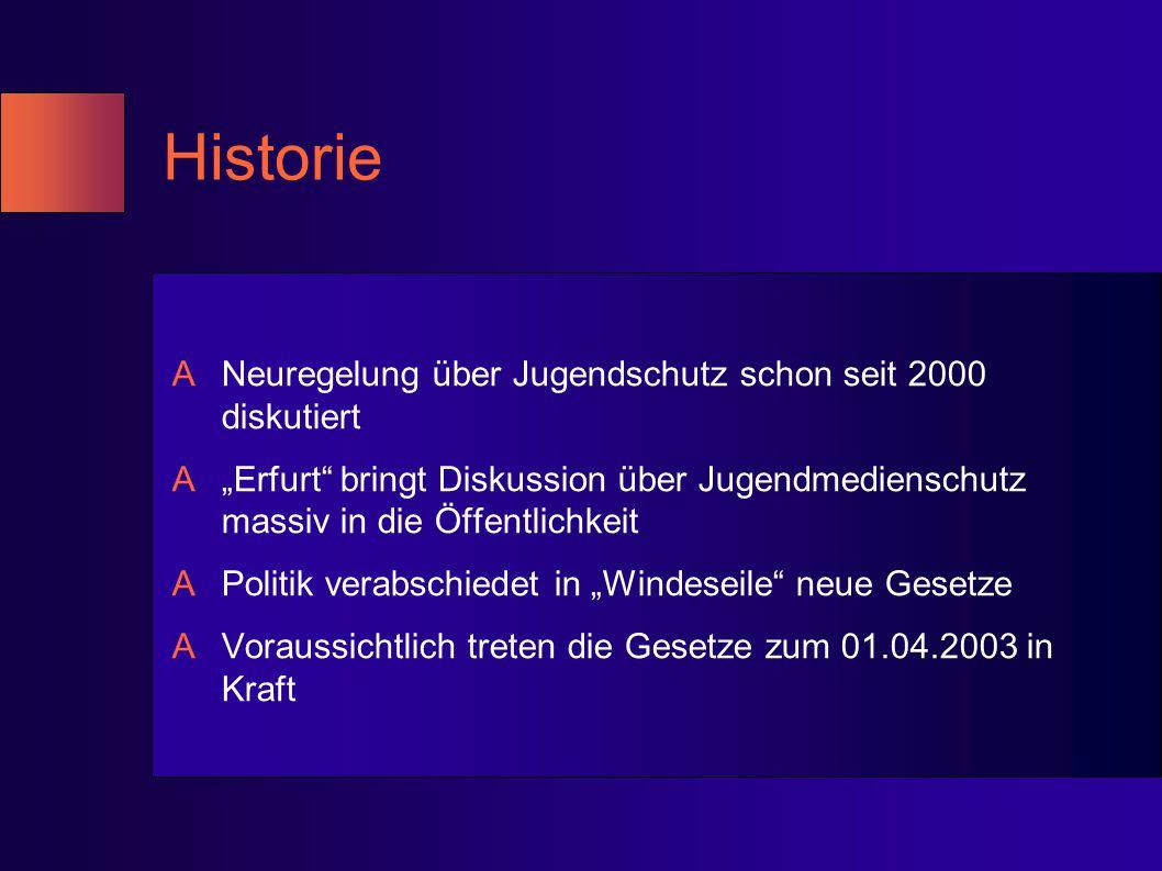 """Historie ANeuregelung über Jugendschutz schon seit 2000 diskutiert A""""Erfurt"""" bringt Diskussion über Jugendmedienschutz massiv in die Öffentlichkeit AP"""