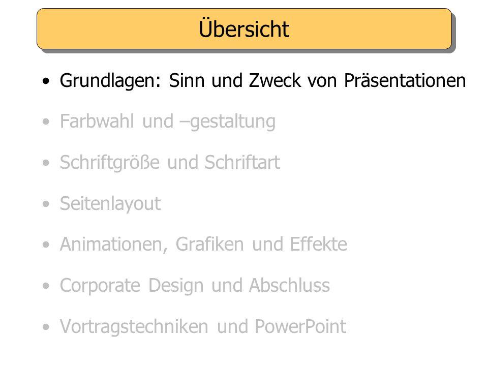 Nutzen Sie die Vorteile von PowerPoint: - Visualisierungsmöglichkeiten - Gestaffelter Seitenaufbau.