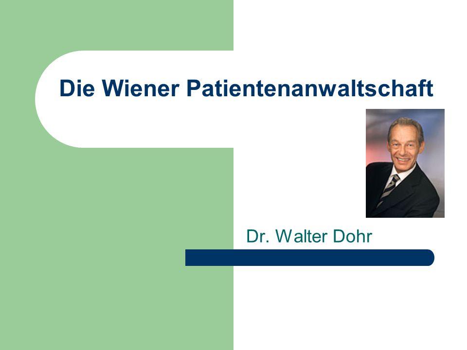 Forderung des Patientenanwaltes Mehr Transparenz über: Komplikationsraten Als Vorraussetzung für die Erhöhung der PatientInnensicherheit und Ergebnisqualität.