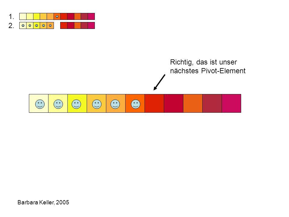Barbara Keller, 2005 Richtig, das ist unser nächstes Pivot-Element 1. 2.