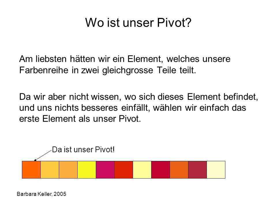 Barbara Keller, 2005 Wo ist unser Pivot.
