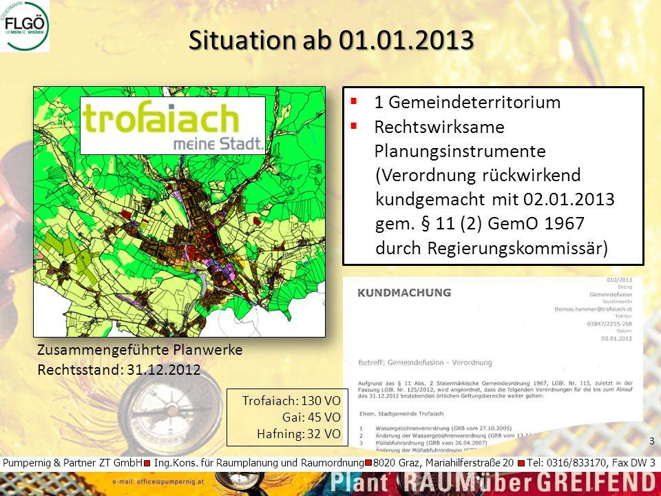 3 Pumpernig & Partner ZT GmbH Ing.Kons. für Raumplanung und Raumordnung 8020 Graz, Mariahilferstraße 20 Tel: 0316/833170, Fax DW 3 Situation ab 01.01.