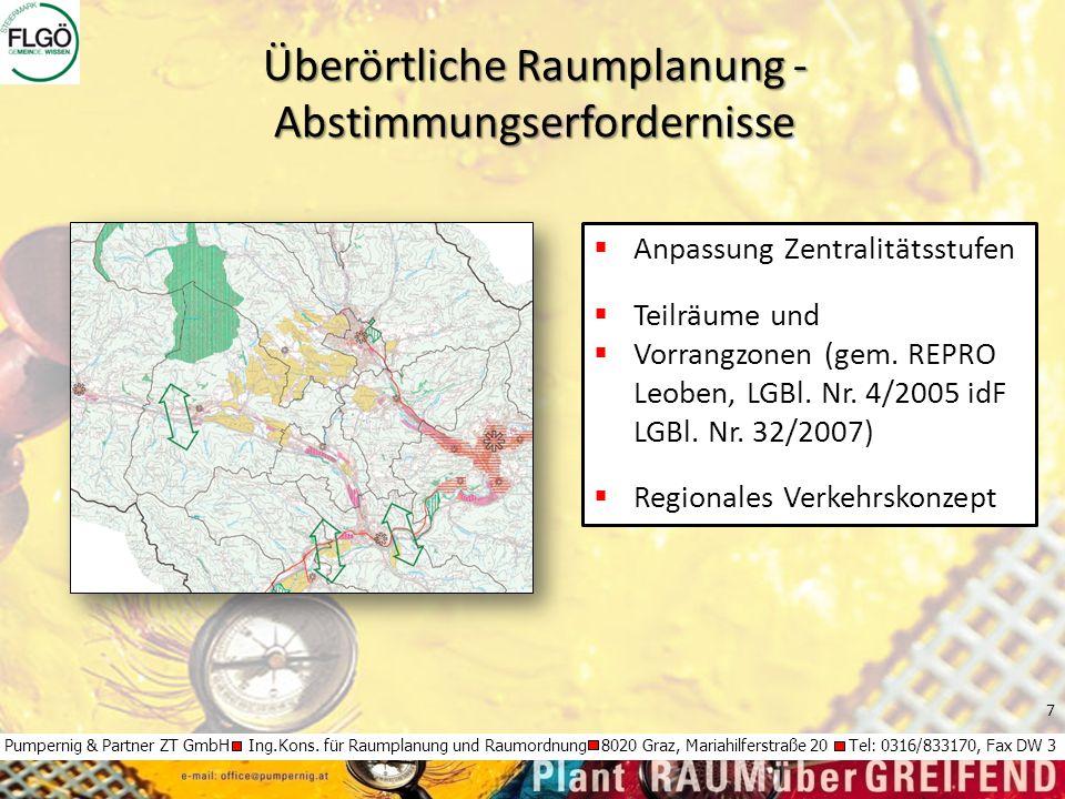 7 Pumpernig & Partner ZT GmbH Ing.Kons. für Raumplanung und Raumordnung 8020 Graz, Mariahilferstraße 20 Tel: 0316/833170, Fax DW 3  Anpassung Zentral