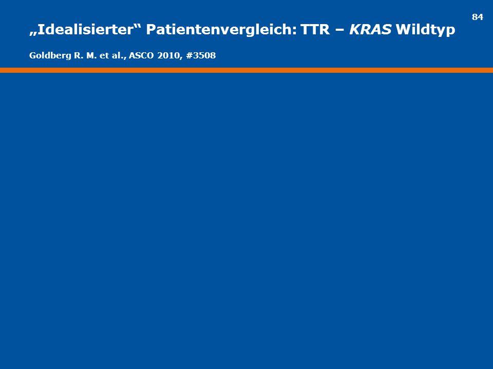 """84 """"Idealisierter"""" Patientenvergleich: TTR – KRAS Wildtyp Goldberg R. M. et al., ASCO 2010, #3508"""