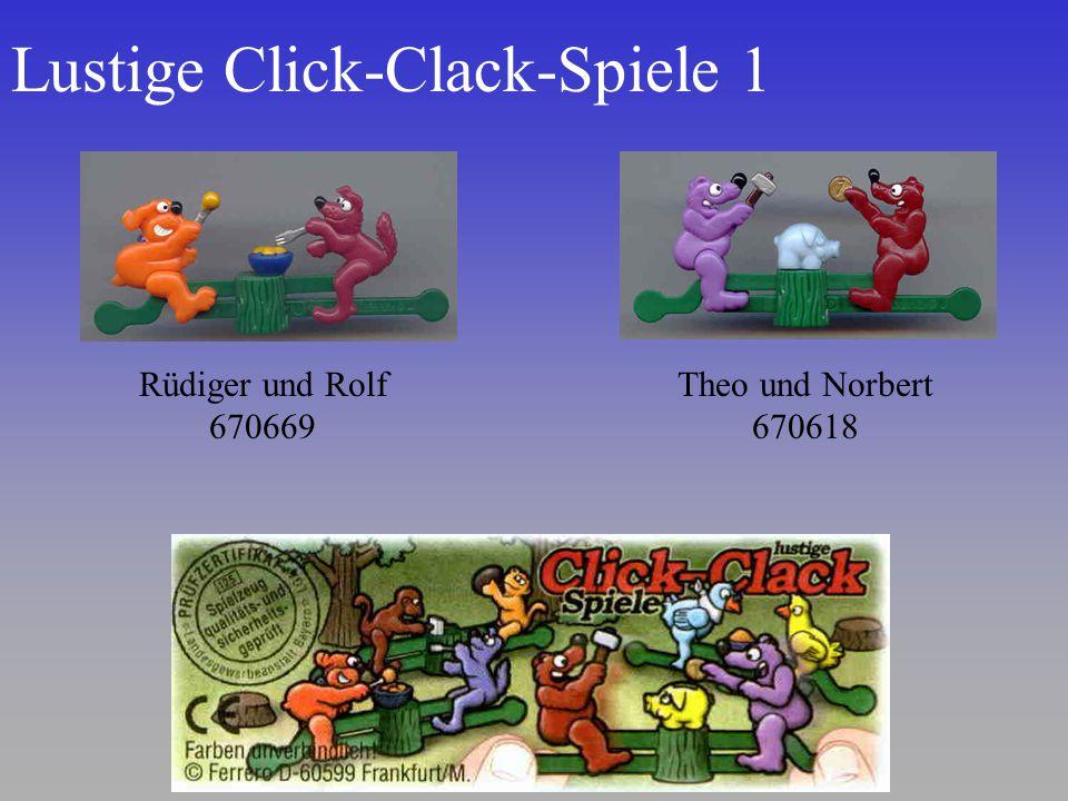Lustige Click-Clack-Spiele 1 Rüdiger und Rolf 670669 Theo und Norbert 670618