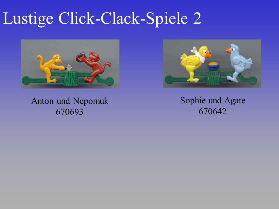 Lustige Click-Clack-Spiele 2 Sophie und Agate 670642 Anton und Nepomuk 670693