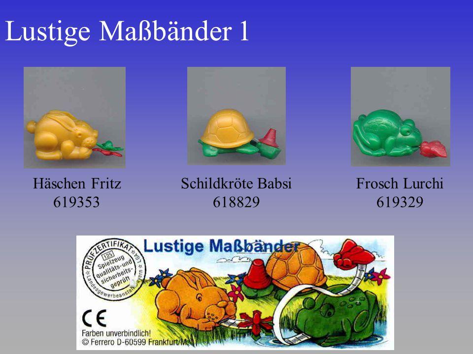 Lustige Maßbänder 1 Häschen Fritz 619353 Schildkröte Babsi 618829 Frosch Lurchi 619329