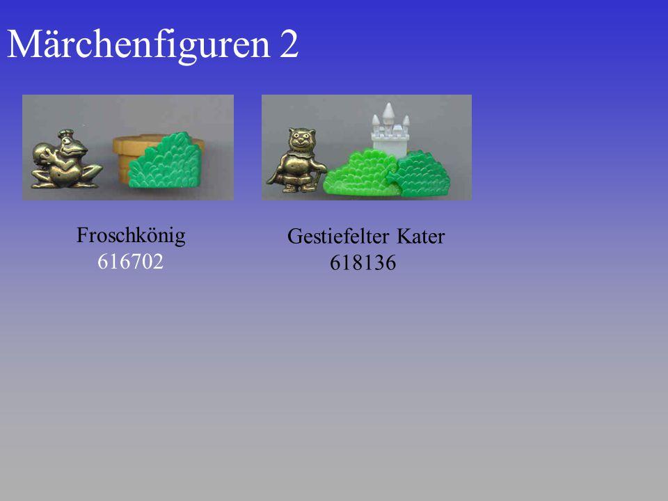 Märchenfiguren 2 Gestiefelter Kater 618136 Froschkönig 616702