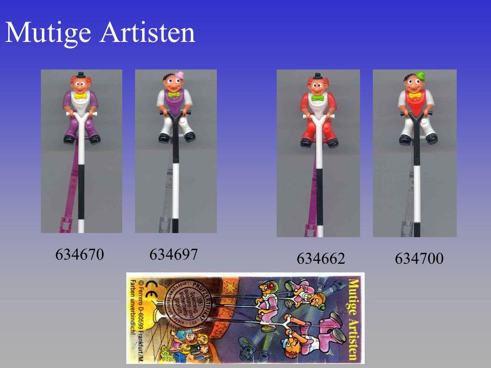 Mutige Artisten 634670 634662634700 634697