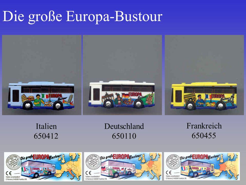 Die große Europa-Bustour Italien 650412 Deutschland 650110 Frankreich 650455
