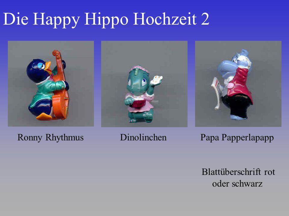Die Happy Hippo Hochzeit 2 Ronny RhythmusDinolinchenPapa Papperlapapp Blattüberschrift rot oder schwarz