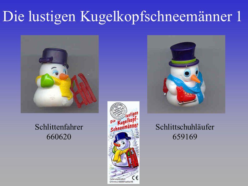 Die lustigen Kugelkopfschneemänner 1 Schlittenfahrer 660620 Schlittschuhläufer 659169