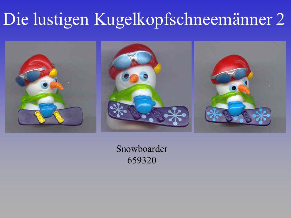Die lustigen Kugelkopfschneemänner 2 Snowboarder 659320