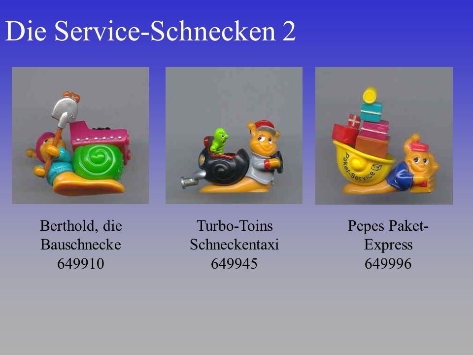 Die Service-Schnecken 2 Berthold, die Bauschnecke 649910 Turbo-Toins Schneckentaxi 649945 Pepes Paket- Express 649996