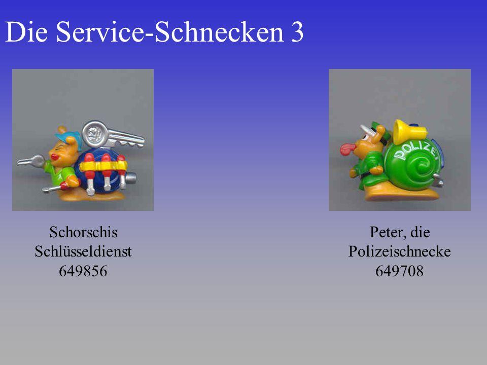 Die Service-Schnecken 3 Schorschis Schlüsseldienst 649856 Peter, die Polizeischnecke 649708